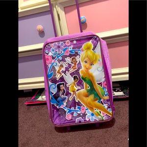 Tinkerbell suitcase purple